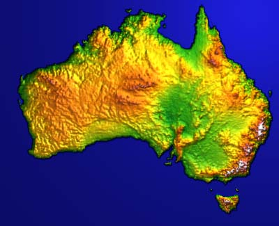 Topographical Map Of Australia London Map